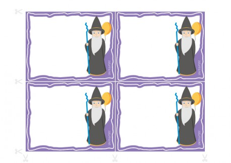 Birthday party invitations to print - Linus the Magician